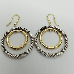 David Yurman Dual Circle Drop Earrings